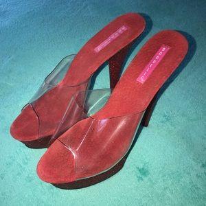 Sparkly Red Platform Heels